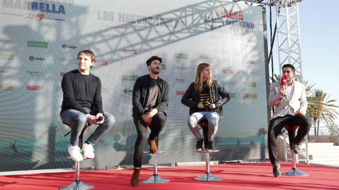 Rodrigo G. Fáez, Laura Moreno, Juan Arroita, con Alberto Benítez,...