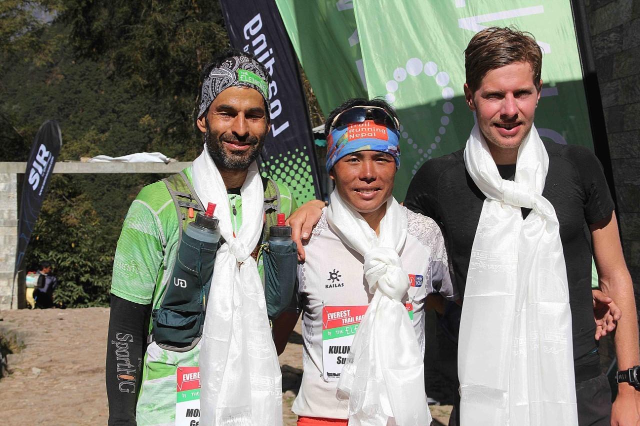 El podio masculino: Gerard Morales, Suman Kulung y Hans Smedsrod.