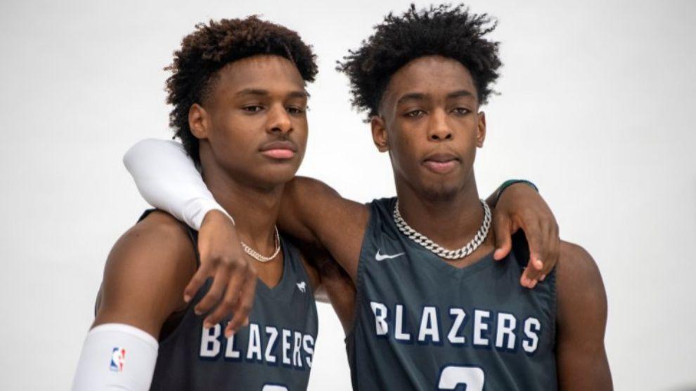 Bronny James y Zaire Wade.