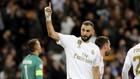 Benzema, celebrando un gol ante el Galatasaray