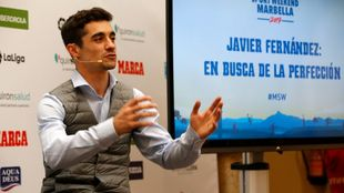 Javier Fernández durante su comparecencia en el Marca Sport Weekend