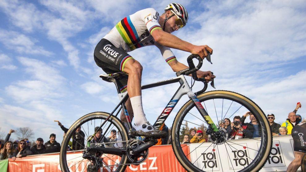 Mathieu van der Poel, en la prueba de ayer.