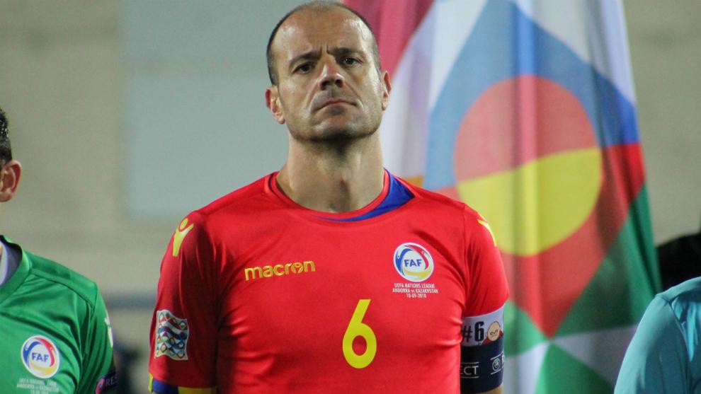 Ildefons Lima, durante un partido con Andorra de la Nations League