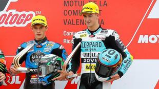 Sergio García y Xavi Artigas, en el podio.