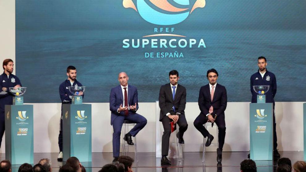 Sorteo y presentación de la Supercopa de España.