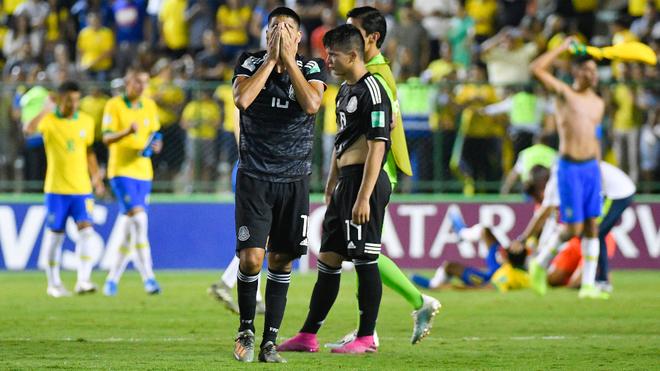 La selección mexicana lamenta la derrota.