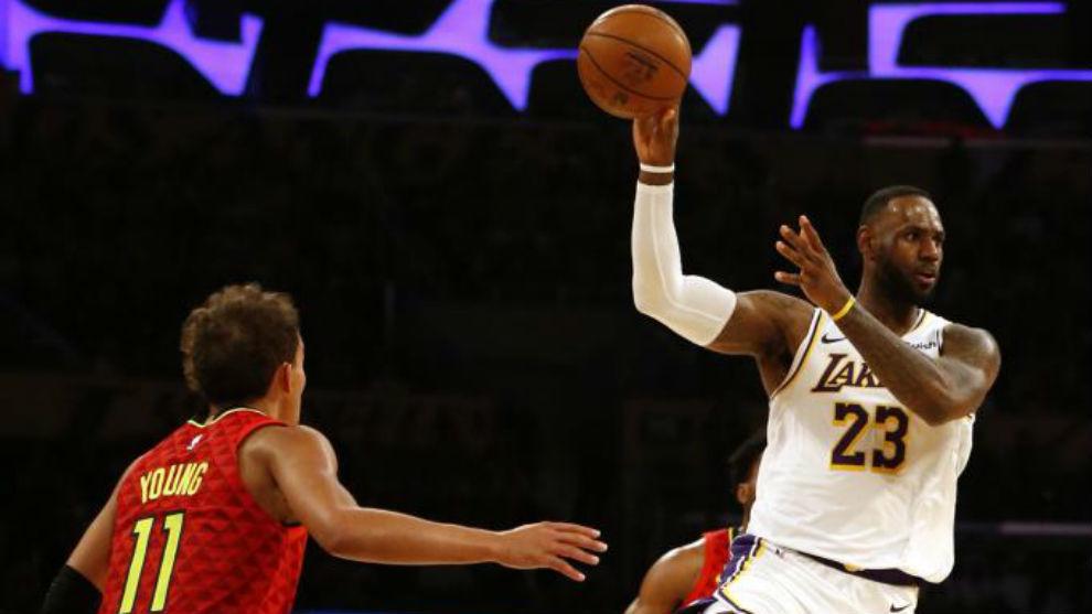 LeBron James volvió a comandar una victoria de los Lakers