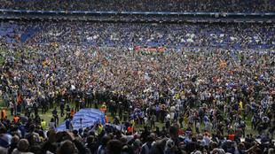 La afición perica celebra la clasificación europea tras el último...