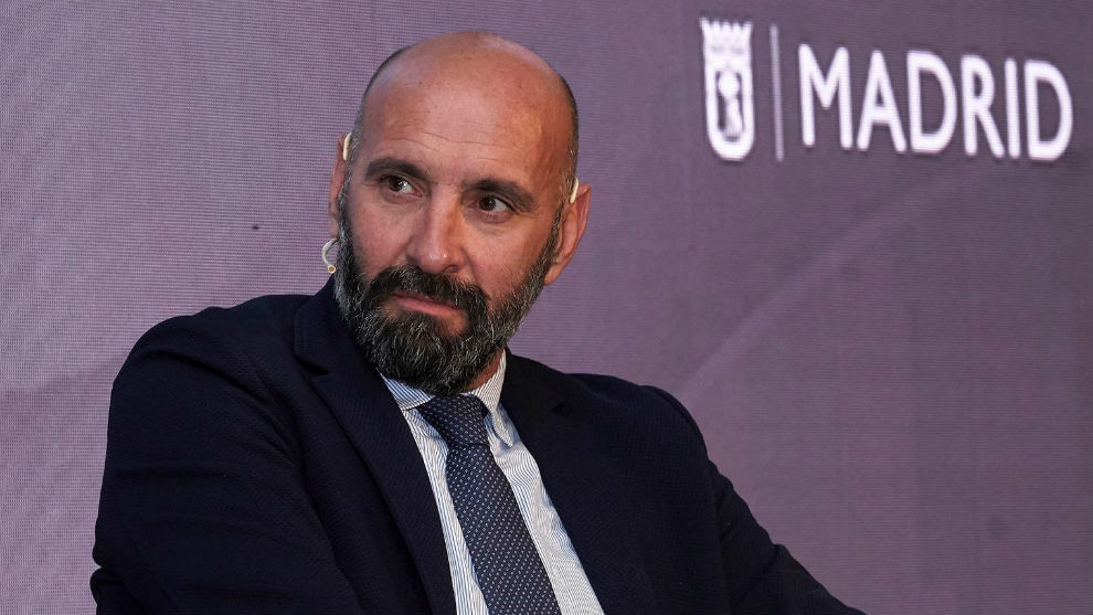 Monchi, en el Kosmos Sports Summit de Madrid.