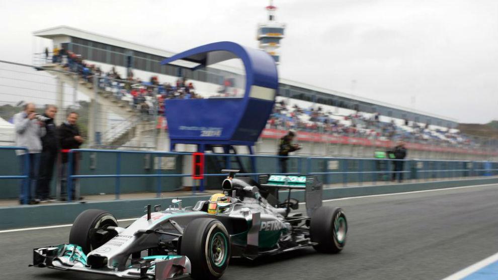 Imágenes de los test de pretemporada en Jerez en 2014.