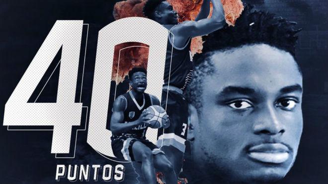Histórica actuación de Caleb Agada con el Baloncesto Melilla
