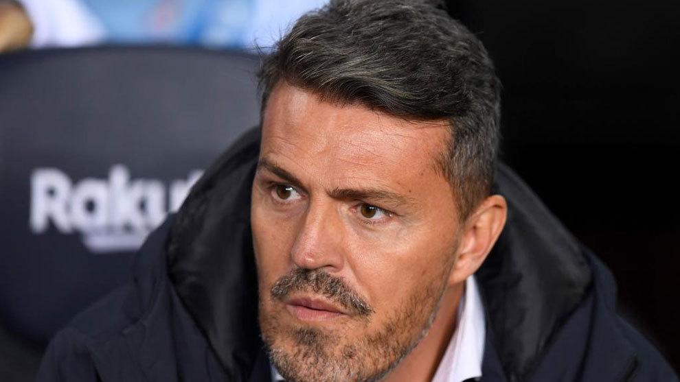 Oscar García, en el partido frente al Barcelona en el Camp Nou.