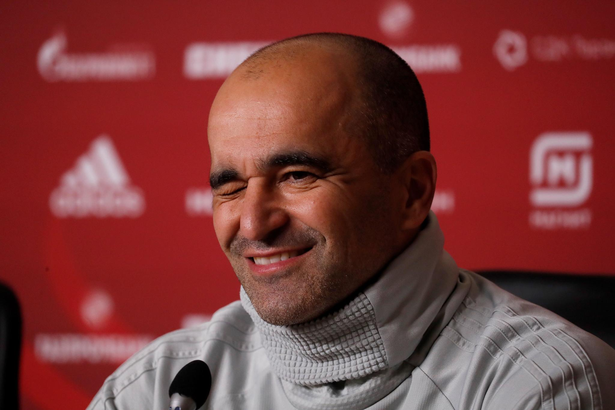 St. Petersburg (Russian Federation), 15/11/2019.- Belgium head coach <HIT>Roberto</HIT><HIT>Martinez</HIT> attends a press conference at the Gazprom Arena in St. Petersburg, Russia, 15 November 2019. Belgium will face Russia in their UEFA Euro 2020 Group I qualifying soccer match on 16 November 2019. (Bélgica, Rusia, San Petersburgo) EFE/EPA/ANATOLY MALTSEV