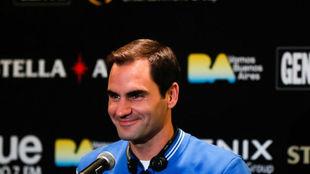 Roger Federer, en Buenos Aires