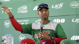 Castro durante una conferencia de prensa.