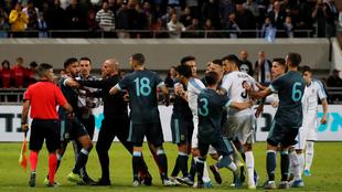 Los ánimos se encendieron tras el empate.