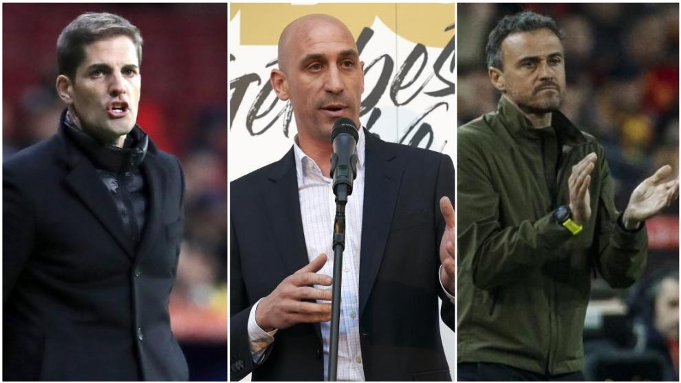 Robert Moreno, Luis Rubiales y Luis Enrique