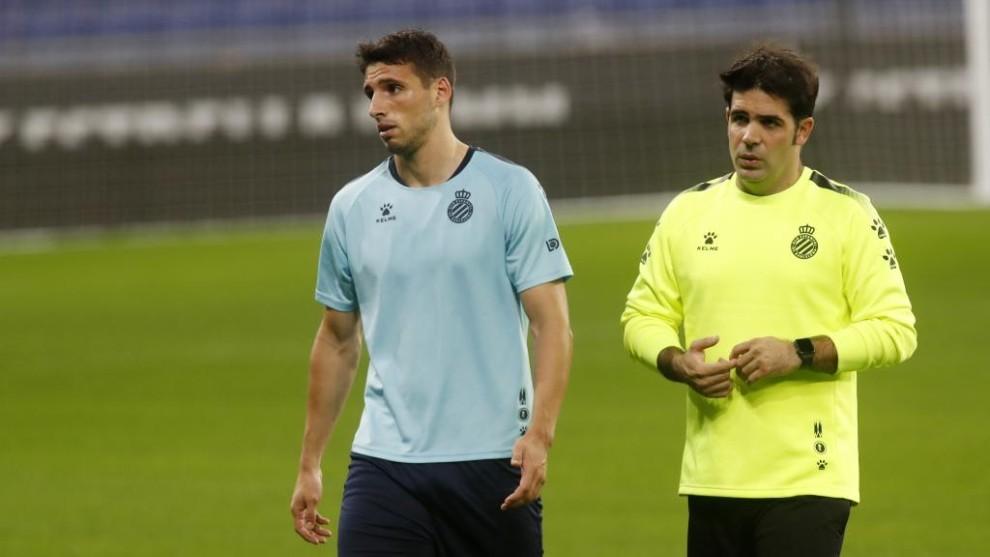 Calleri, junto a Javier Carrión, recuperador.