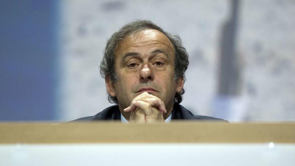 Platini, en el Congreso de la FIFA de Zúrich.
