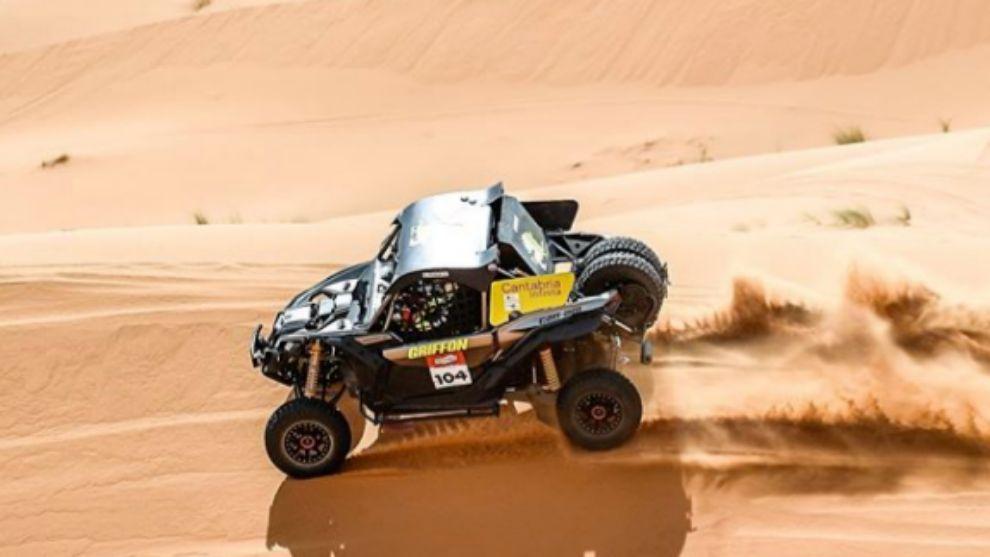 Chus Puras durante el Rally Panáfrica.
