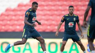 Emerson, en un entrenamiento con Brasil