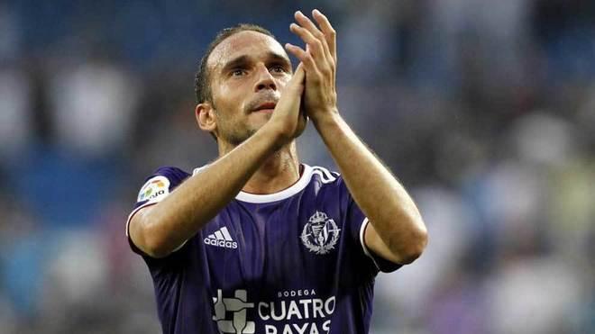 Nacho, en un partido con el Valladolid.