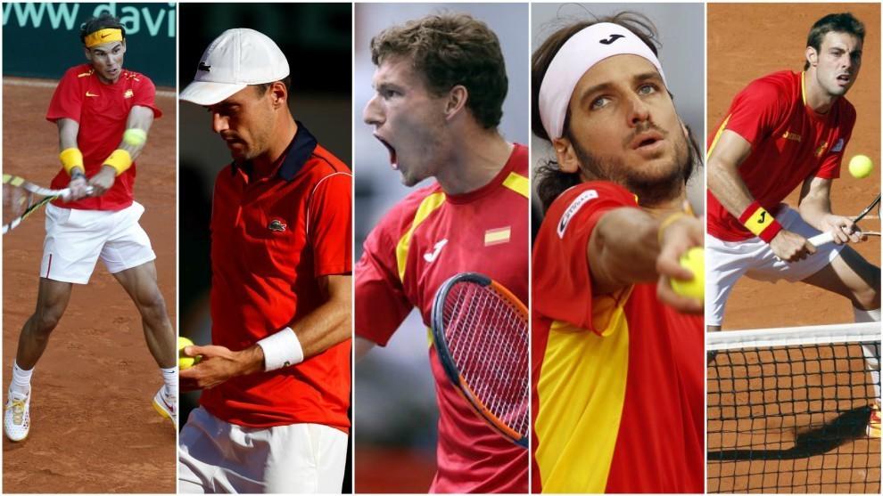 Equipo España Copa Davis 2019: Rafa Nadal, Roberto Bautista, Pablo...