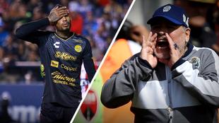 Vinicio Angulo y Diego Maradona