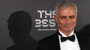 Mourinho, en la gala FIFA The Best.
