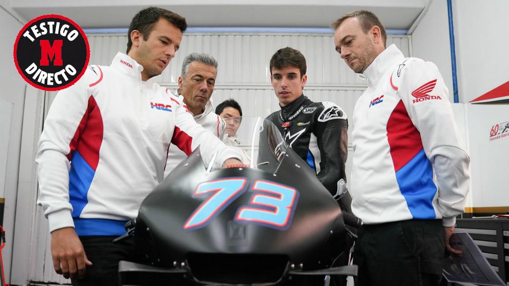 Álex, en su estreno con la MotoGP.