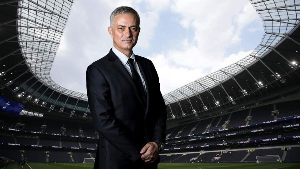 Mourinho en el Tottenham Hotspur Stadium