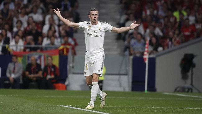 Gareth Bale, durante el derbi disputado esta temporada.