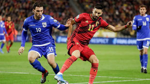 Carrasco, con Bélgica ante Chipre.