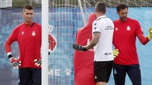 Andrés Prieto y Diego López, en un entrenamiento.