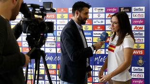 Carmen Martín, entrevistada por Teledeporte /