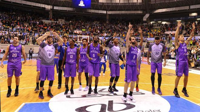 El Burgos celebra la victoria con su público