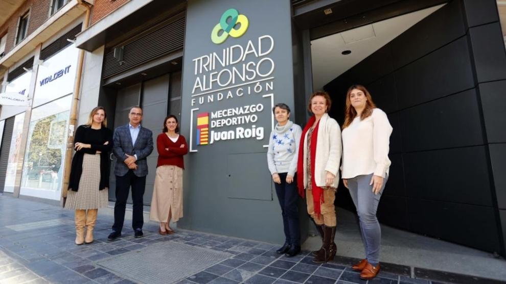Los miembros del jurado, en la sede de la Fundación Trinidad Alfonso,...