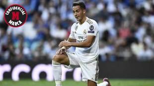 Lucas Vázquez, en un partido de esta temporada