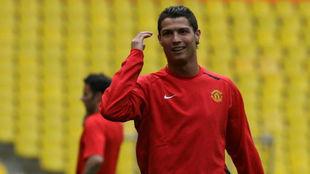 Ronaldo, en su etapa en el Manchester United.