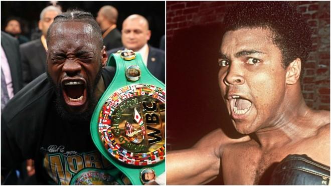 Deontay Wilder y Muhammad Ali.