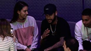 Neymar, en la Copa Davis el pasado martes