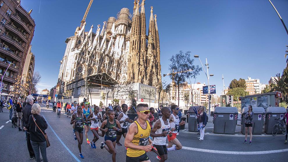 Imagen de la pasada edición del Maratón de Barcelona.