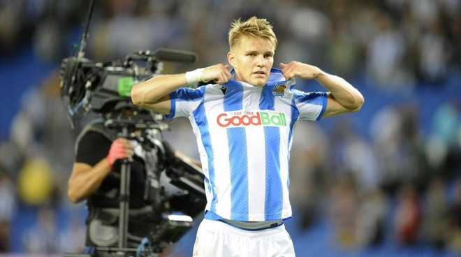 Martin Odegaard is on fine form for Real Sociedad