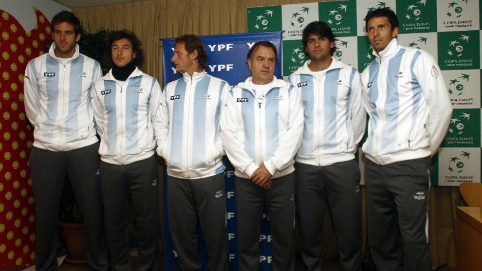 El equipo argentino en una serie con Nalbandian y Del Potro
