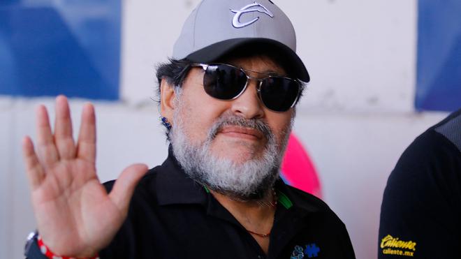 Diego Armando Maradona, exentrenador de Dorados.