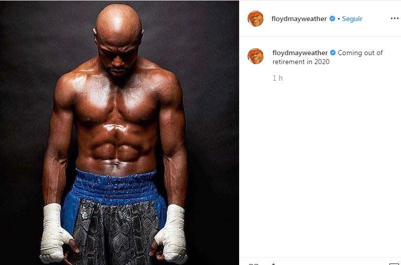 Floyd Mayweather anuncia su regreso al boxeo en 2020