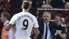 Ibrahimovic y Mourinho en el Manchester United