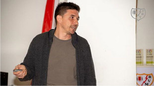 Rubén Reyes, en las instalaciones del club de Vallecas