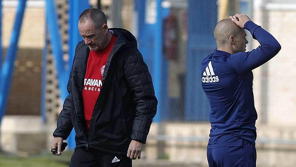 Víctor Fernández y Pombo, durante un entrenamiento de este año en...