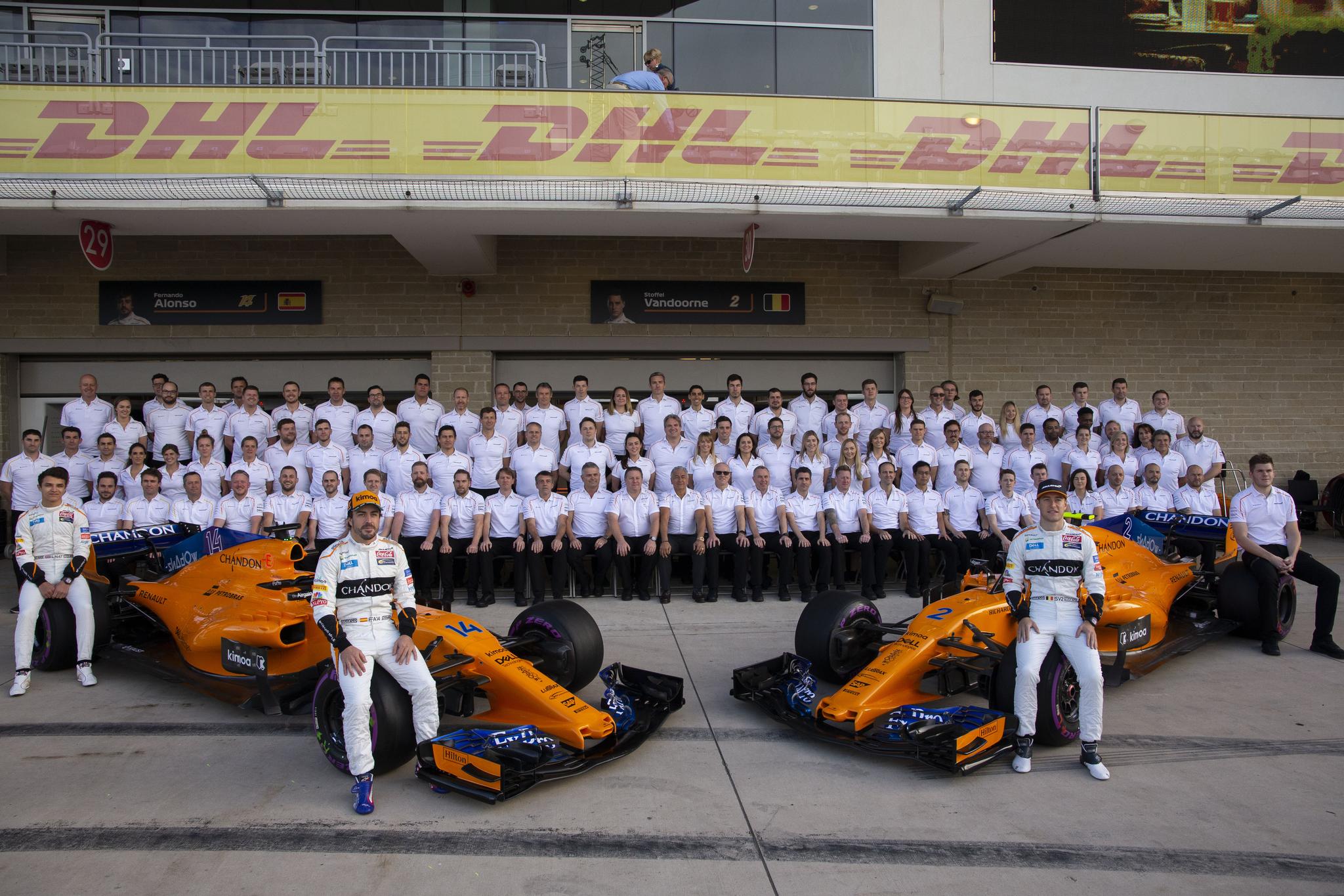 McLaren, en el Gran Premio de los Estados Unidos 2018.